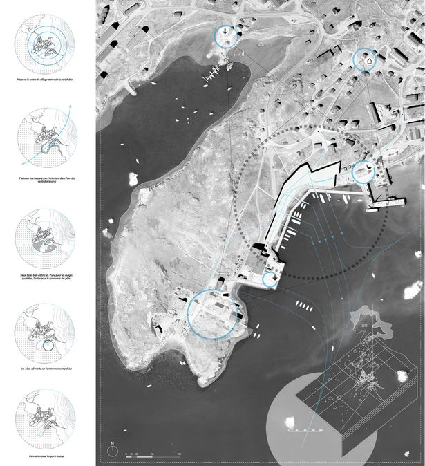 Icebergs trading post in a melting Greenland | Alexandre Braleret | Archinect