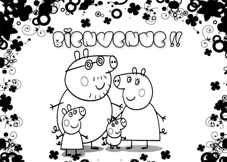 Kids Coloring Books Peppa Pig Pigs For Frozen Images Colouring In Drawings