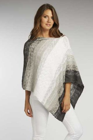 Fabulous women's organic cotton Ombre Poncho made in the most modern knit. The ombre style...