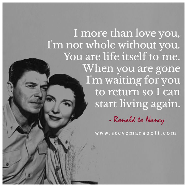 Ronald and Nancy Reagan...I love how much they loved each other! ❤