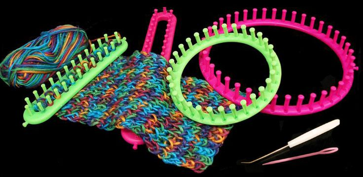 how to make your own rund knitting loom