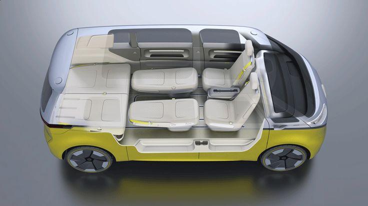 volkswagen I.D. BUZZ volkswagen ID BUZZ concept self driving electric campervan designboom