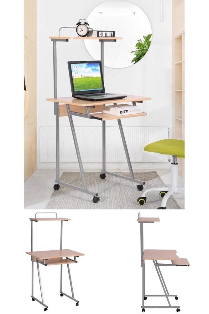 details about computer desk keyboard tray shelf study table pc rh pinterest com