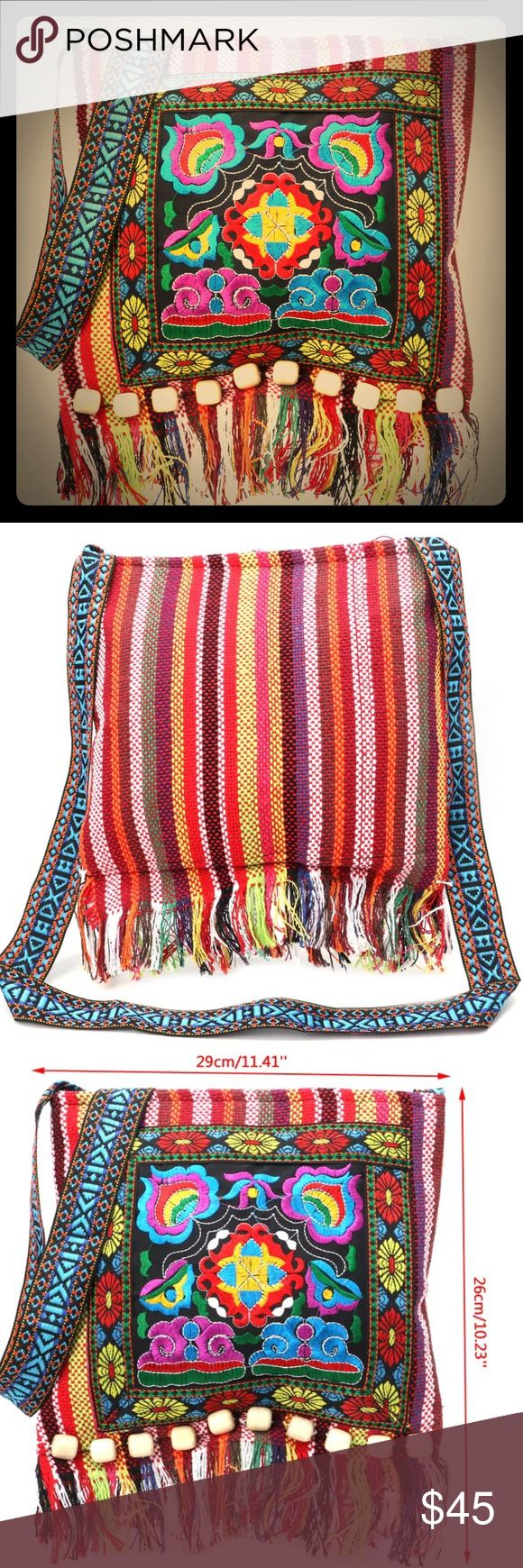 🆕RED CROSSBODY BOHO CHÍC MEXICANA BAG Perfect bag for festivals! Beach! Great Everyday bag that's Boho Super Chíc with a touch of Mexicana glam! Full Zipper closure for piece of mind. CRossbody, lightweight and secure. Fab with Fringe! Turns any outfit from drab to fab. Suburban2Urban Bags Crossbody Bags