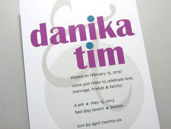 8 best elopement party images on Pinterest Elopement party - invitation wording for elopement party