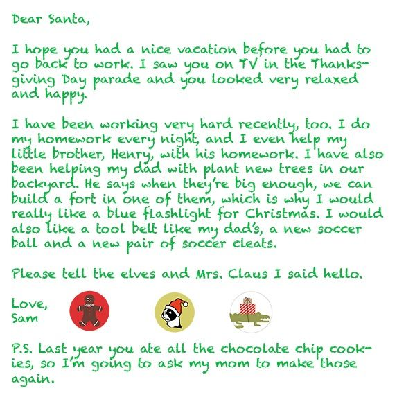 write santa a letter Grab your free printable to write santa a thank you letter for all those holiday gifts the kids received.