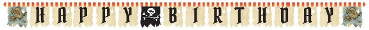 Pirate's Map Jointed Banner, Large (12/case)