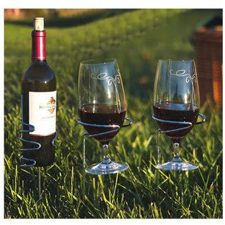 """Don't worry about your wine and beverages tipping over while picnicking with"