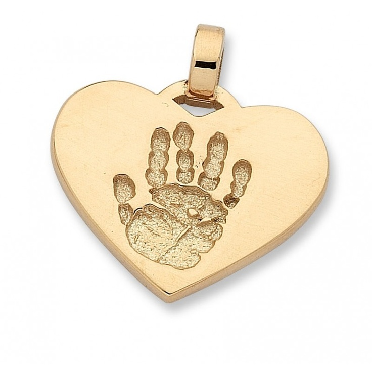 Personalised Double Sided Print Pendant - 9ct Gold 2cm