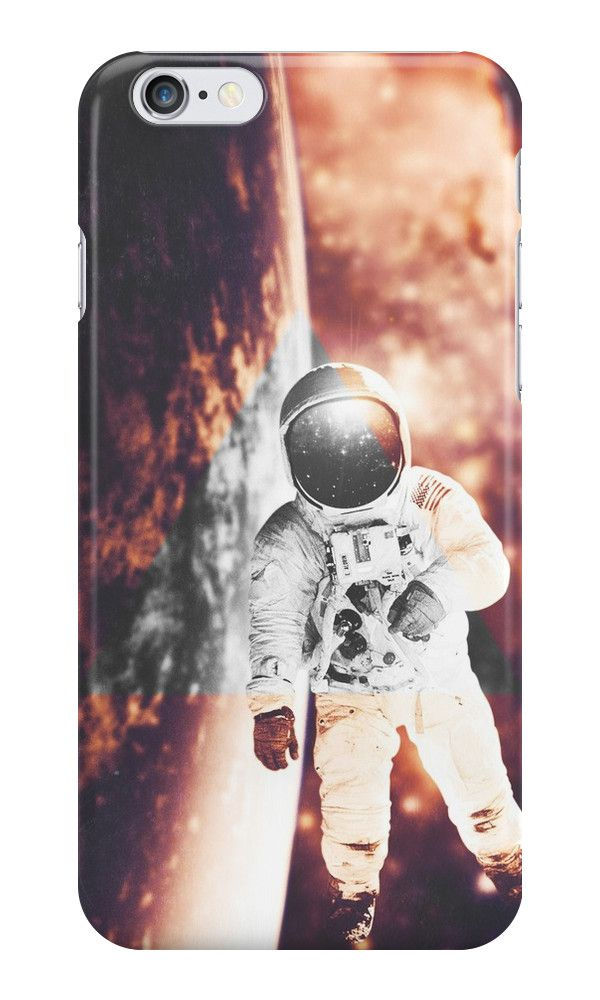 Floating in silence by nath-gary #Snap #iPhoneCases #Space #Nebula #Galaxy #Astronaut #Stars #Photomanip #Triangle #WarmColors #Dream #SciFi