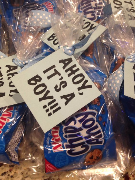 Ahoy Its A Boy Cookie Baby Shower Favor