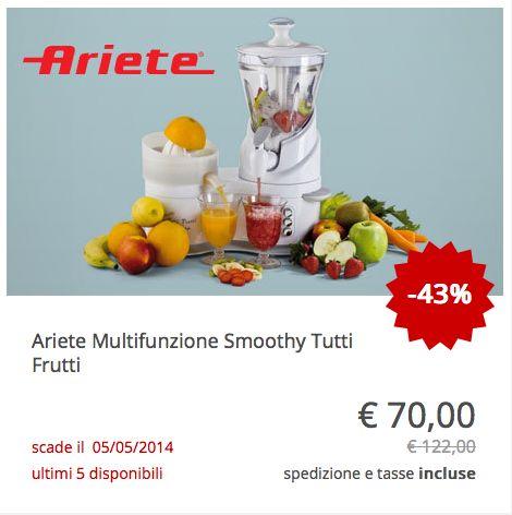 #Ariete Multifunzione Smoothy Tutti Frutti