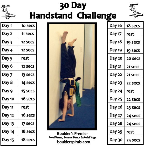Boulder Spirals 30-Day Handstand Challenge for real people.