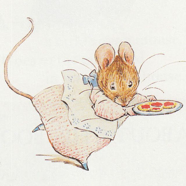 Appley Dapply's Nursery Rhymes - 1917 Beatrix Potter Secret Cupboard - vintage illustrations.