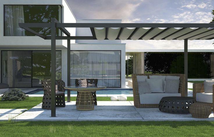cheap modern metal pergola garden landscape. Black Bedroom Furniture Sets. Home Design Ideas
