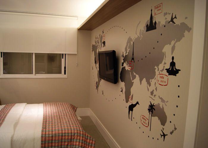 36 best images about mapa m ndi na decora o on pinterest - Papel pared mapa mundi ...