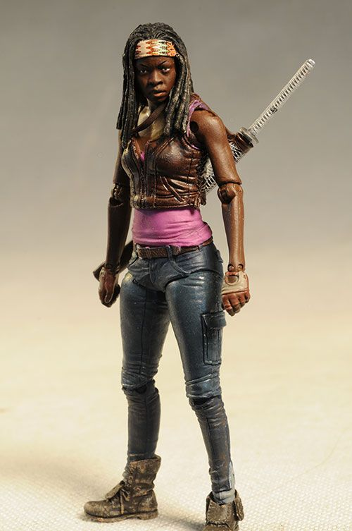 "Michonne Walking Dead action figure by McFarlane Toys.   ""I'll get you my pretty! And your little sword too!"""