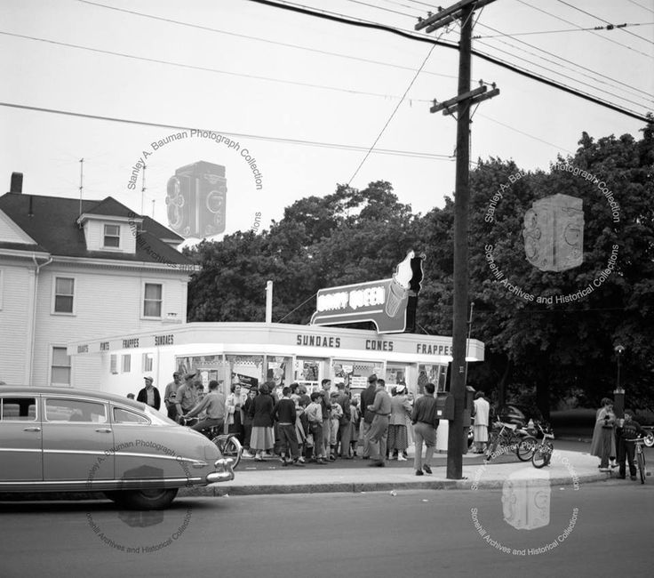 Dairy Queen, 1940's. The Corner Of Ash And Belmont