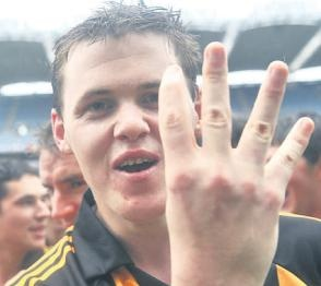 "Nene's Nonsense: Meeting the Kilkenny Hurling Team, Nov 2010.  This is our ""Staff Writer"" and we're glad to have met him."