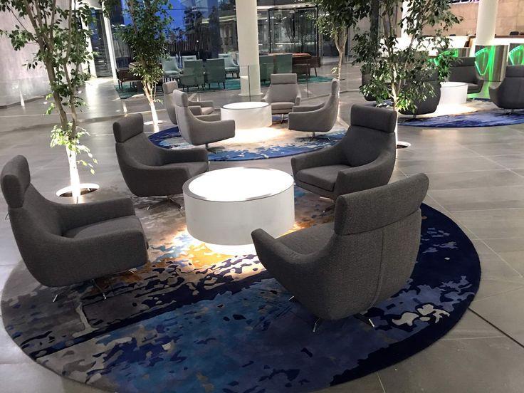 Round rugs....Corporate reception area