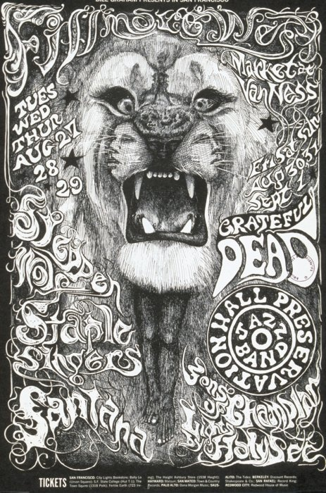 Grateful Dead, Steppen Wolf, Santana.  How did the Staple Singers get into this gig?