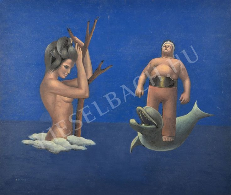 Arion and Erato (On Dolphine) - Endre Rátkay