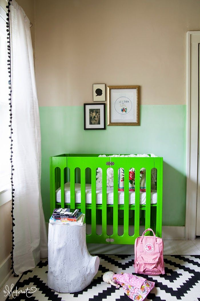 The Makerista: A Fresh Nursery Update With a Simple Paint Treatment