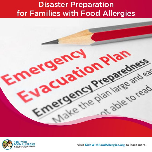 Preparing for Natural Disasters When Your Family Has Food Allergies