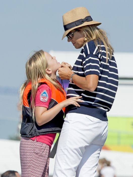 MyRoyals:  Dutch Royals Attended SAIL Amsterdam, August 22, 2015-Princess Ariane with her mother Queen Maxima
