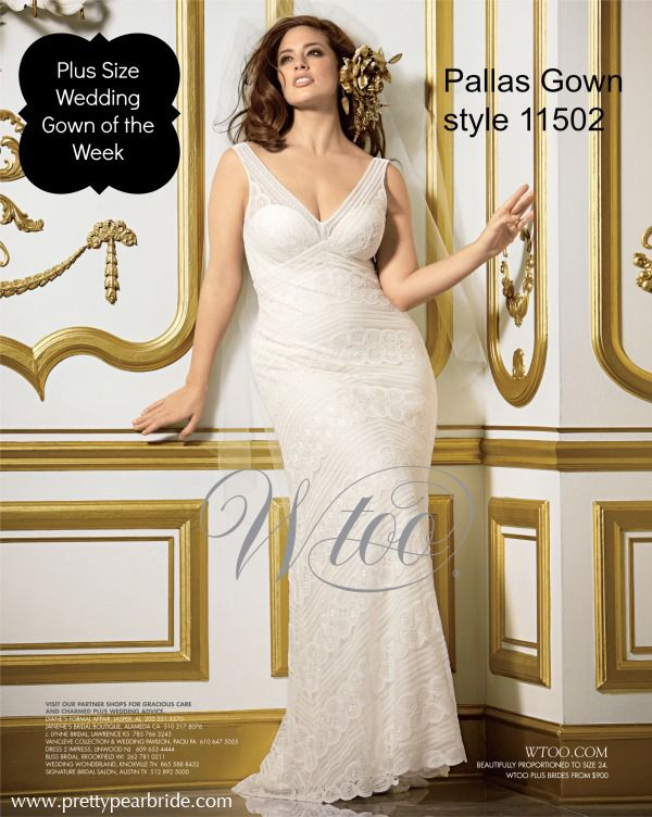 Plus Size Wedding Dress of the Week ~ Wtoo Pallas Gown style 11502 | Pretty Pear Bride