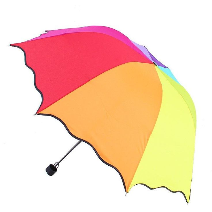 Top Quality Rib Color Rainbow Fashion Long Handle Straight Anti-UV Sun/Rain Stick Umbrella Manual Big Parasol#DJ0047