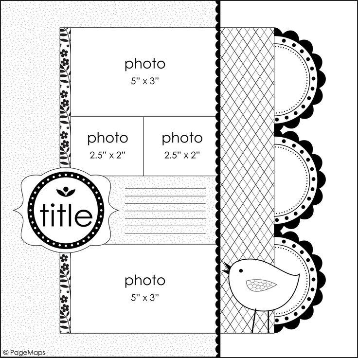 4 photos #12x12 #sketch: 12X12 Sketch, Scrapbook Layouts, Scrapbooking Sketches, Photo Layout, Layout Sketch, Scrapbook Sketches, Sb Sketches, Scrapbooking Layouts, Photos 12X12
