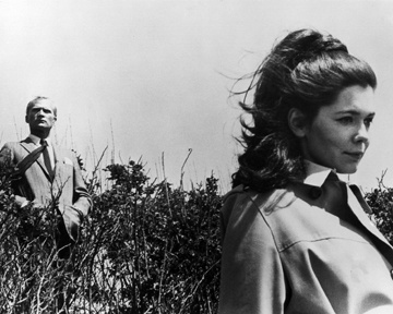 Roger Collins and Victoria Winters on the cliffs of Collinwood.