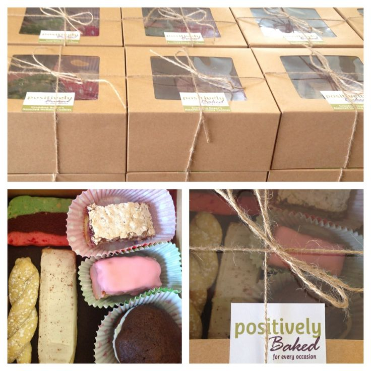 A special order of 19 boxes with 6 different types of cookies that my customer's mom used to make.  Nutmeg logs, Lemon twists, Maraschino cherry bars, Raspberry chews, Whoopie pies and Spumoni. Yum Yum! :) Baked by Positively Baked,