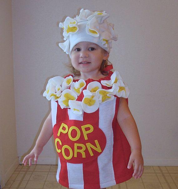Kids Costume Popcorn Box Halloween Costume Photo Prop Toddler Childrens Food Dress Up