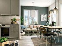 Bilder, Vardagsrum, Kök/matplats, Modernt, Grå, Grön - Hemnet Inspiration