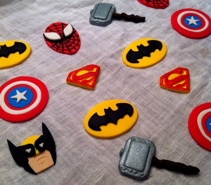 Superman Batman Cake Toppers