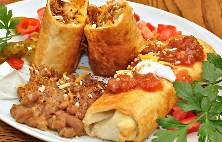 Mexican beef chimichangas | spanish recipe