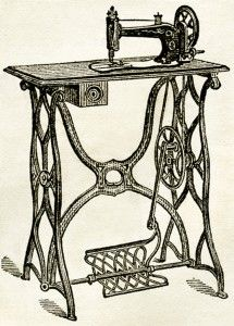 Free Digital Images ~ Vintage Sewing Machines | Old Design Shop Blog