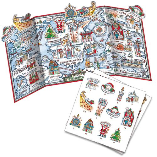 ADV35 Map of the North Lands Advent Calendar by Phoenix Trading. Pop out a character each day to build up the picture and can be reused. Only £7.50 and can be ordered at www.nichola.cards