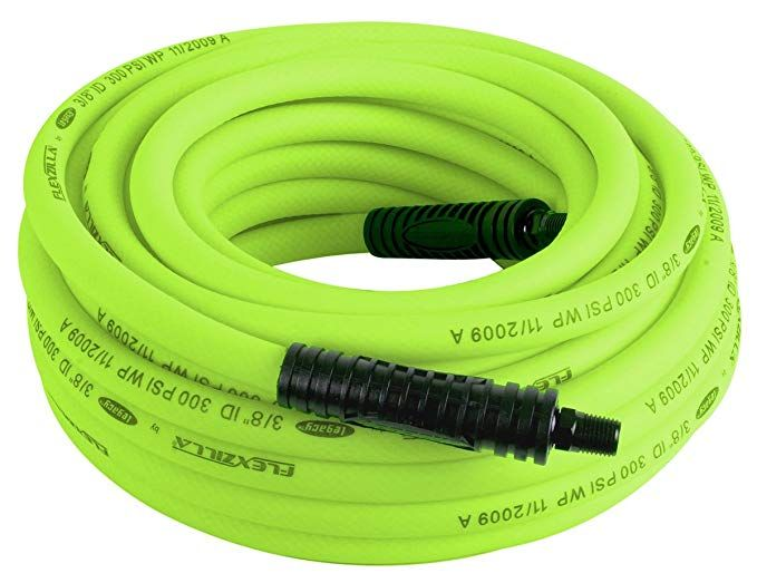 Flexzilla Air Hose 3 8 In X 50 Ft 1 4 In Mnpt Fittings Heavy Duty Lightweight Hybrid Zillagreen Hfz3850yw2 Air Hose Compressor Hose Air Tools