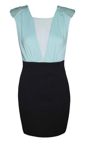 Mermaid Mint & Black Dress $49.95  www.littlepartydress.com.au