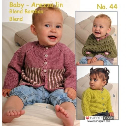 HJERTEGARN-BABY-44-Heft-mit-suessen-Baby-Modellen-aus-Daenemark-Reborn-Stricken