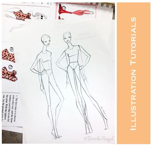 Fashion Illustration Tutorials I drew for Stitched Fashion campers. #croquis #fashionillustration