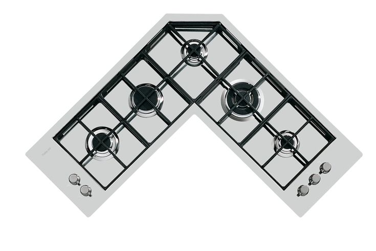 Gas and electric cooker hobs - Quadra.5F angolare.FT - 7238 042 - Foster