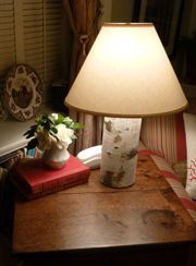 Natural Birch Table Lamp 52 With Shade 42 No Shade