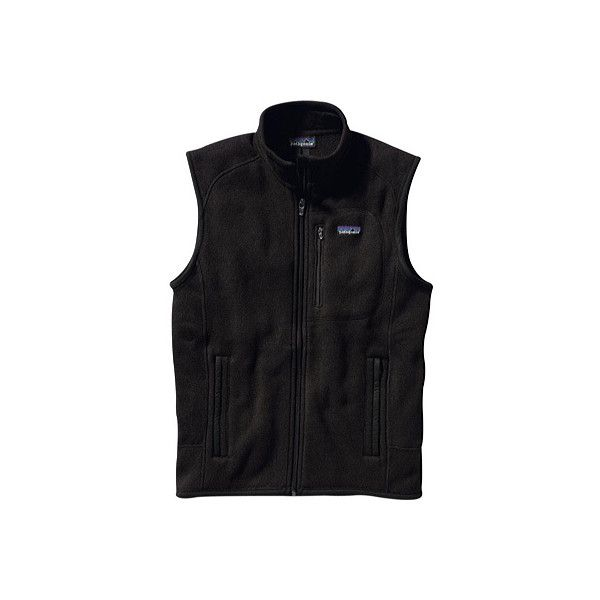 Men's Patagonia Better Sweater Vest - Black Sweater Vests ($75) ❤ liked on Polyvore featuring men's fashion, men's clothing, men's outerwear, men's vests, black, mens sleeveless sweater vest, mens vests outerwear, patagonia mens vest, mens sweater vest and mens sleeveless vest