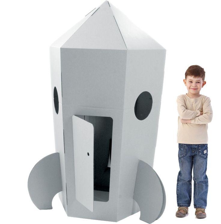 Kartonnen Raket, Speelhuis Kartonhuis Eindeloos speelplezier, zelf decoren, gebruik je fantastie!