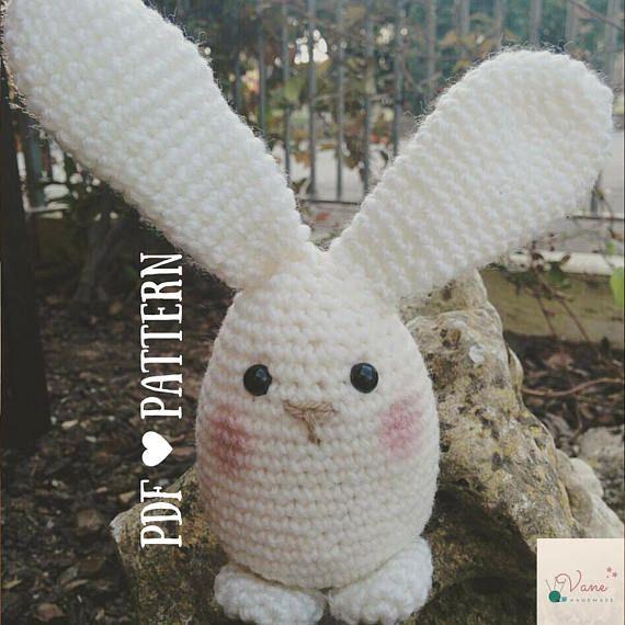 Amigurumi bunny kawaii style_PDF PATTERN in English Guarda questo articolo nel mio negozio Etsy https://www.etsy.com/it/listing/524213973/amigurumi-bunny-kawaii-style-pdf-pattern