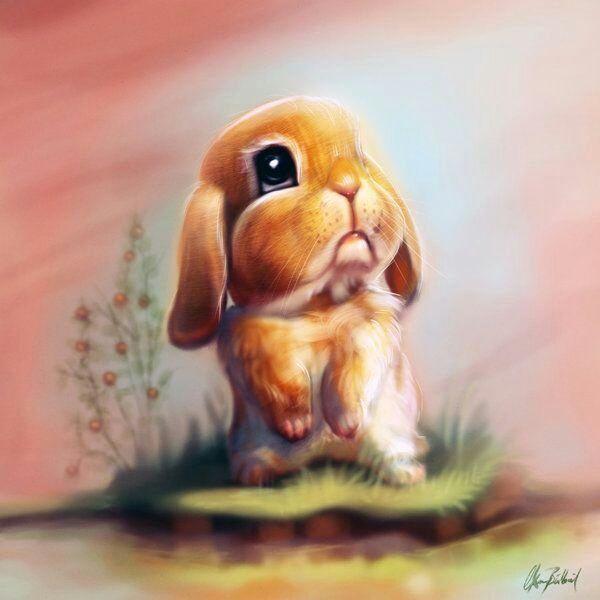 Картинка зайчика обидели